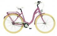Rower miejski różowy